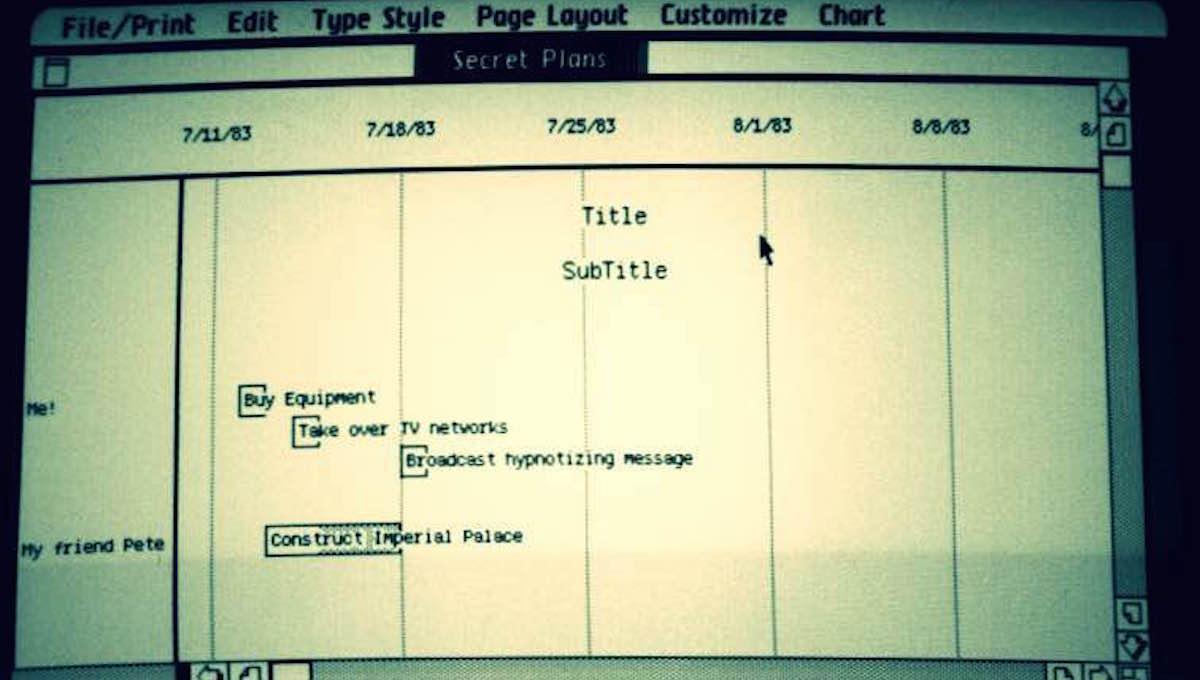 LisaProject Timeline
